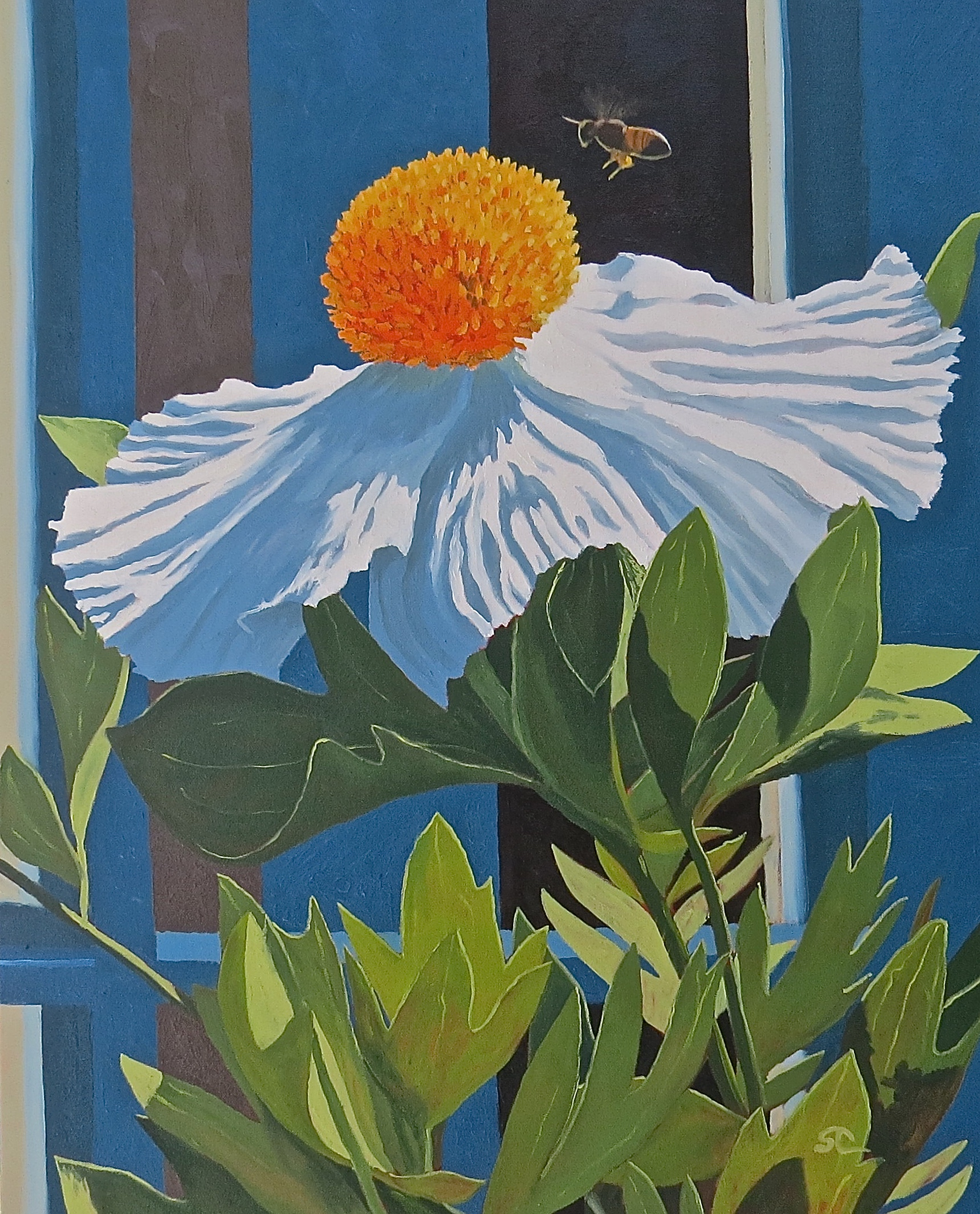 """""""Bee Ecstasy"""" oil on canvas 24 x 30  sold"""