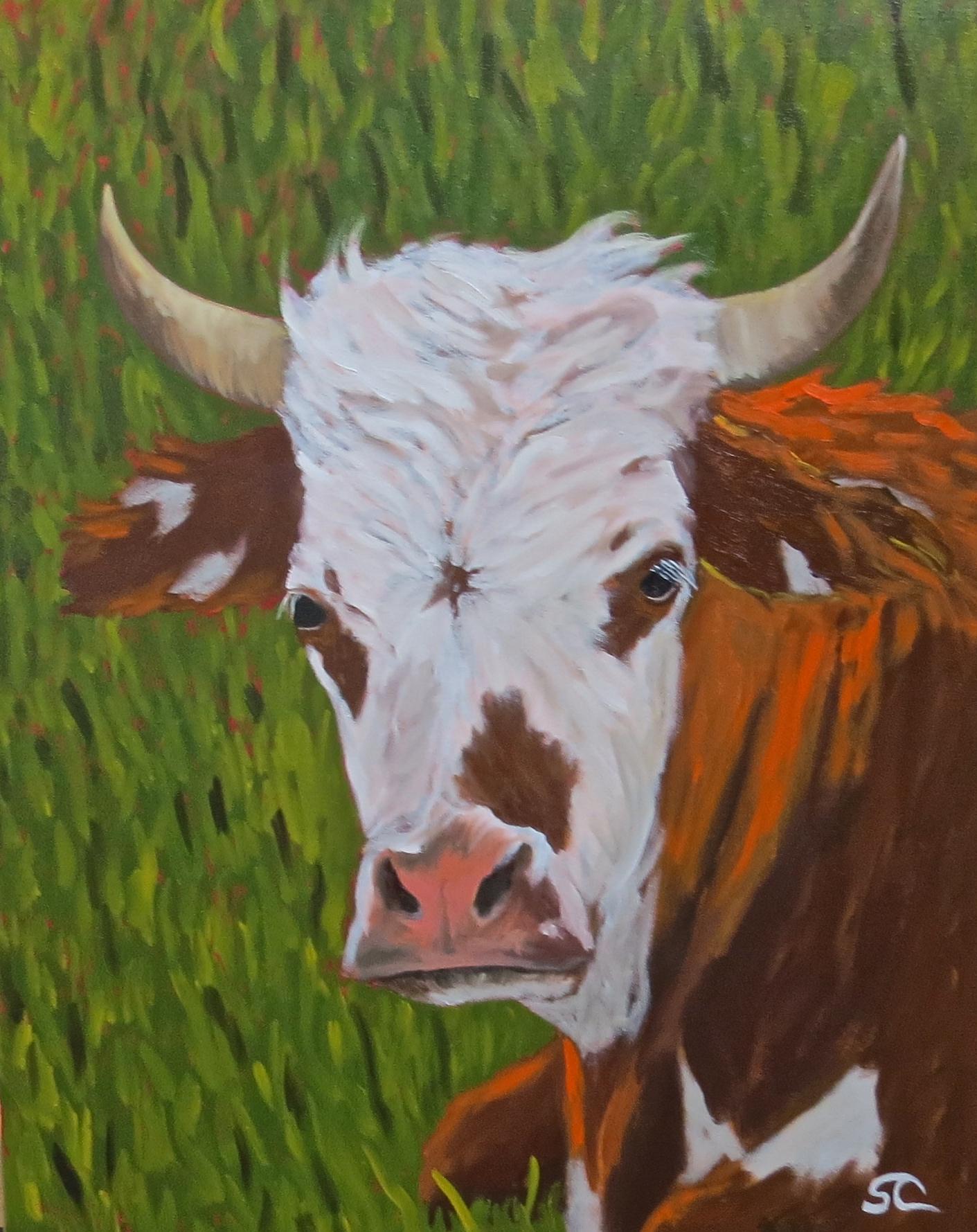 """""""Horns of a Dilemma"""" oil on canvas 24 x 30"""
