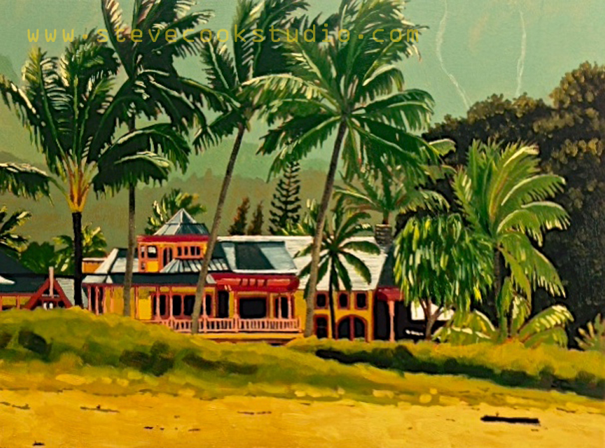Hanalei Nobility  oil on panel 18 x 24