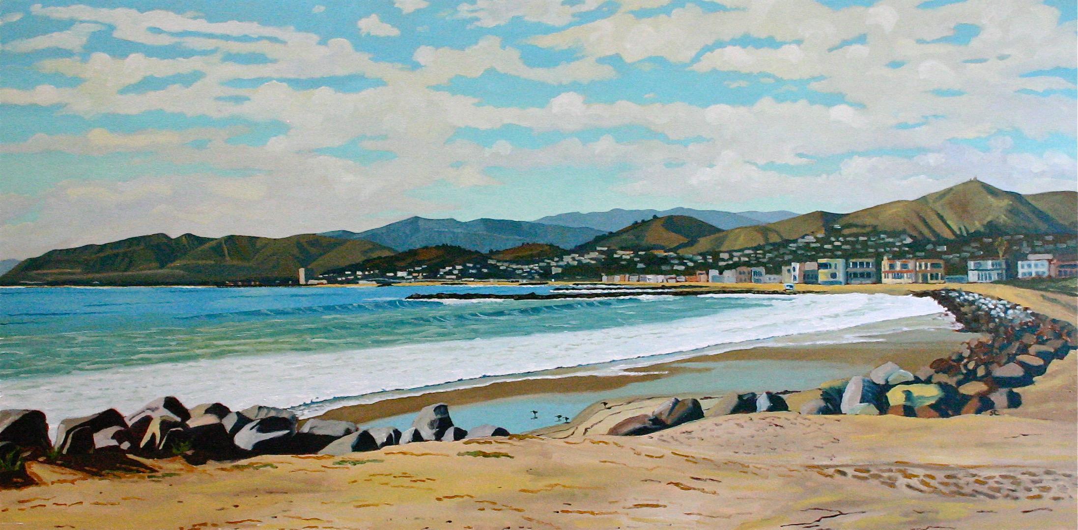 Pierpont Bay  oil on canvas 30 x 60