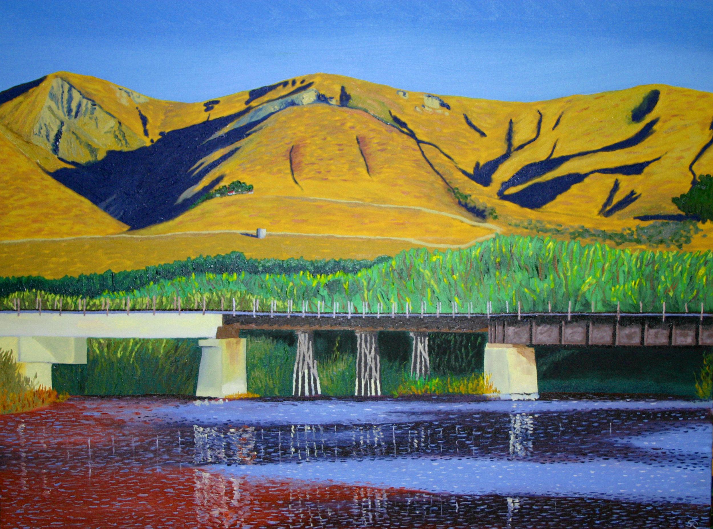 """Ventura River Mouth"" oil on canvas 30 x 40"