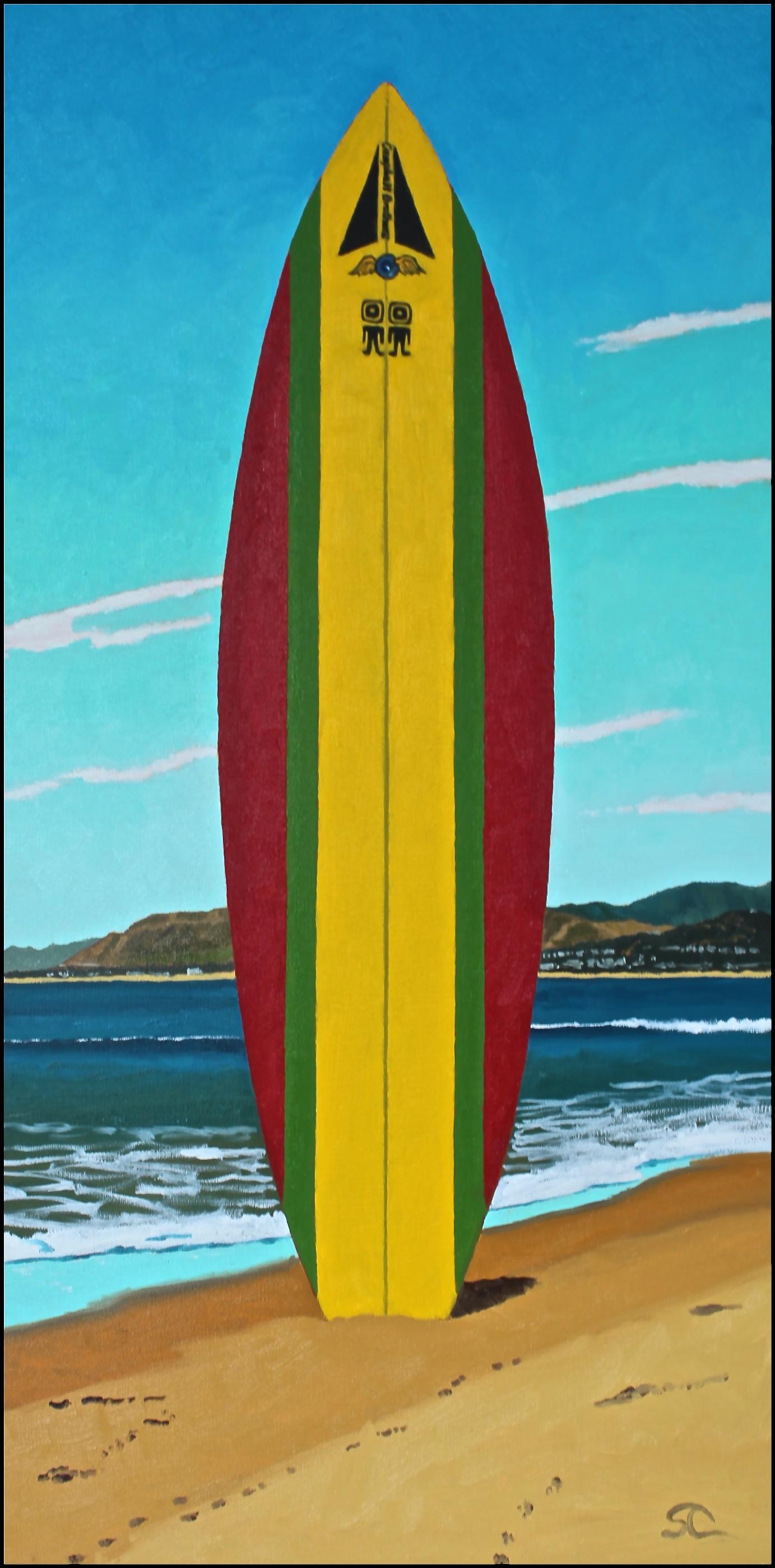 """""""Rasta Bonzer"""" oil on canvas 18 x 36"""