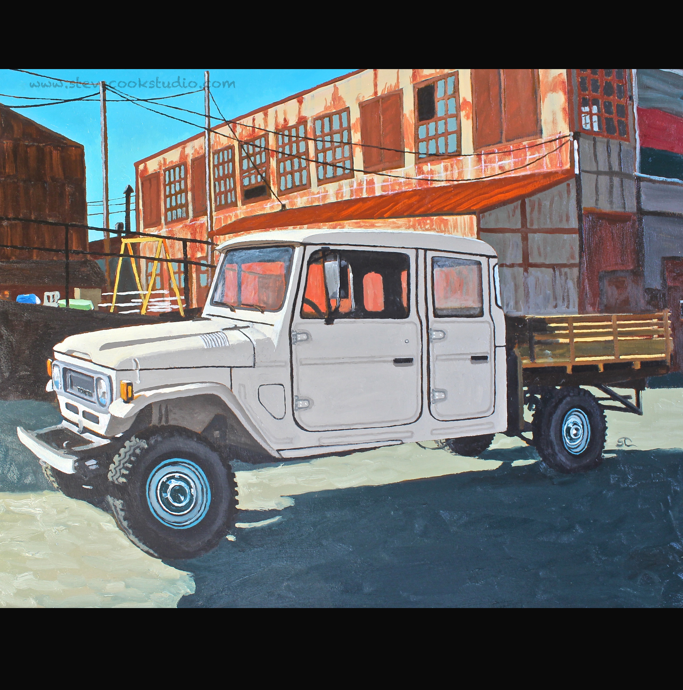 """""""John's Truck""""  oil on canvas 24x30"""