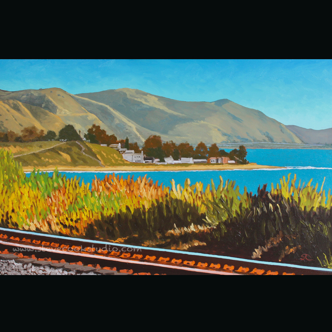 """Rincon from Carpinteria Bluffs"" oil on canvas 24 x 30"
