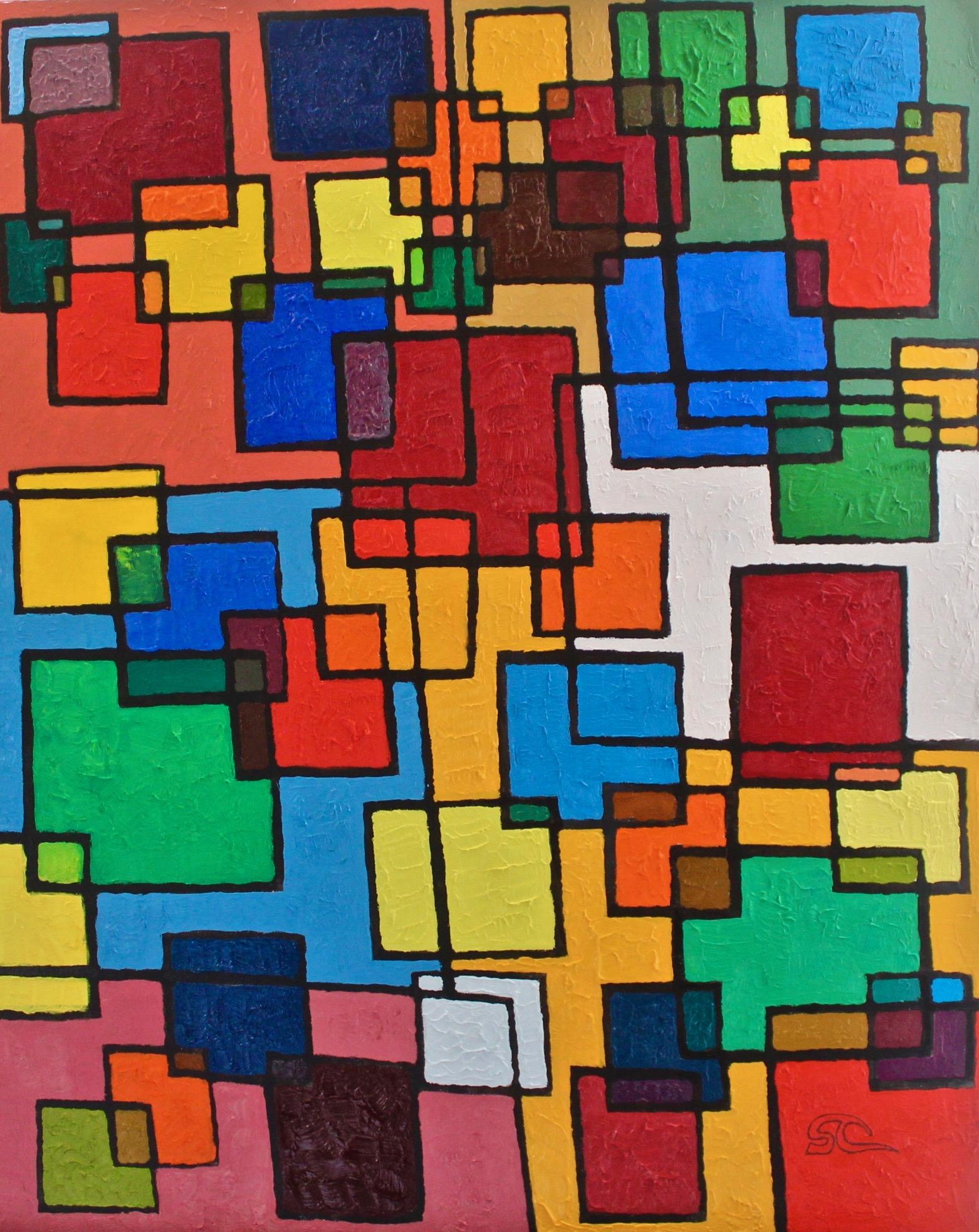 """""""Each has Four"""" oil on canvas 24 x 30"""