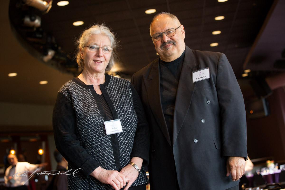 Anita Nonneman and Ron Busch.