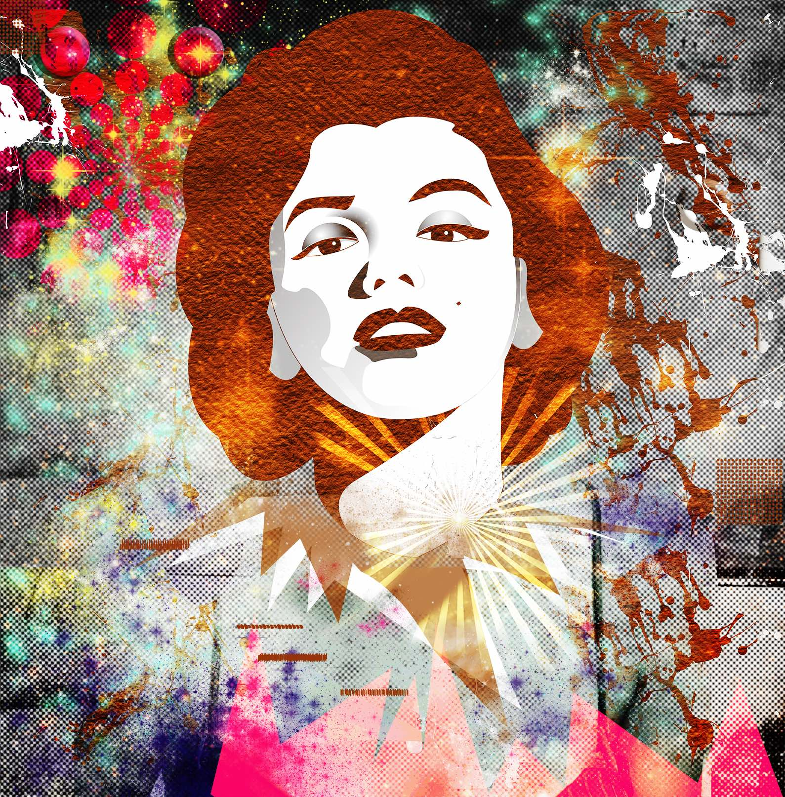 Marilyn – Illustration and collage