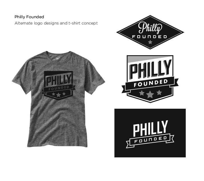 Philly Founded Alternate Logos