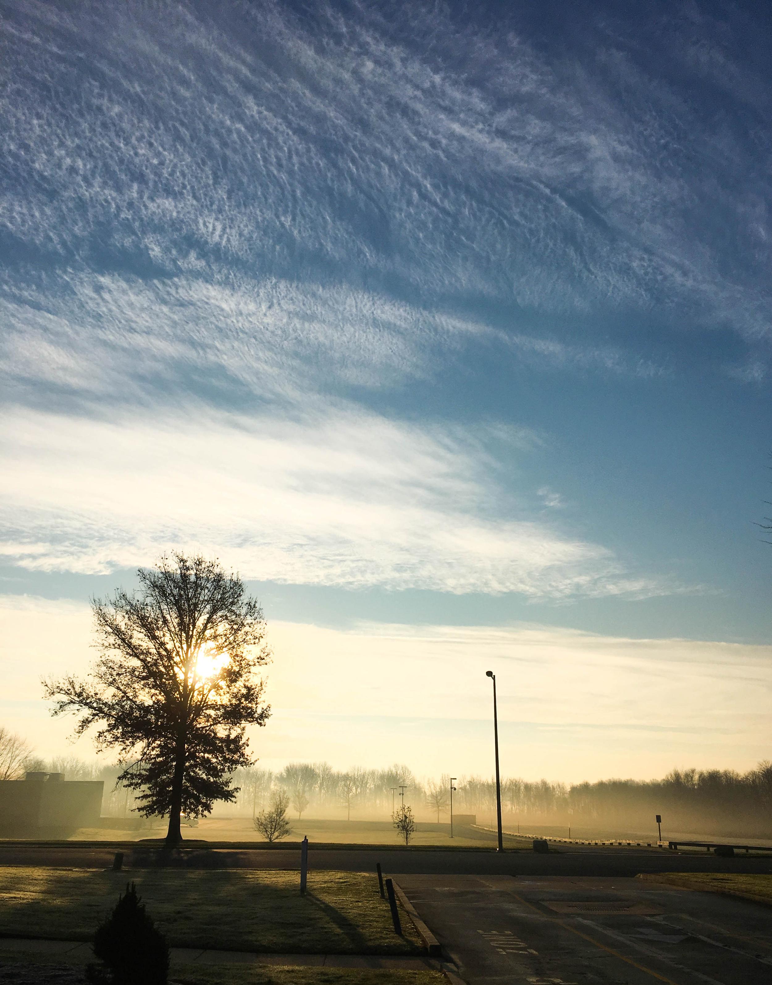 sunrise fog at norcom