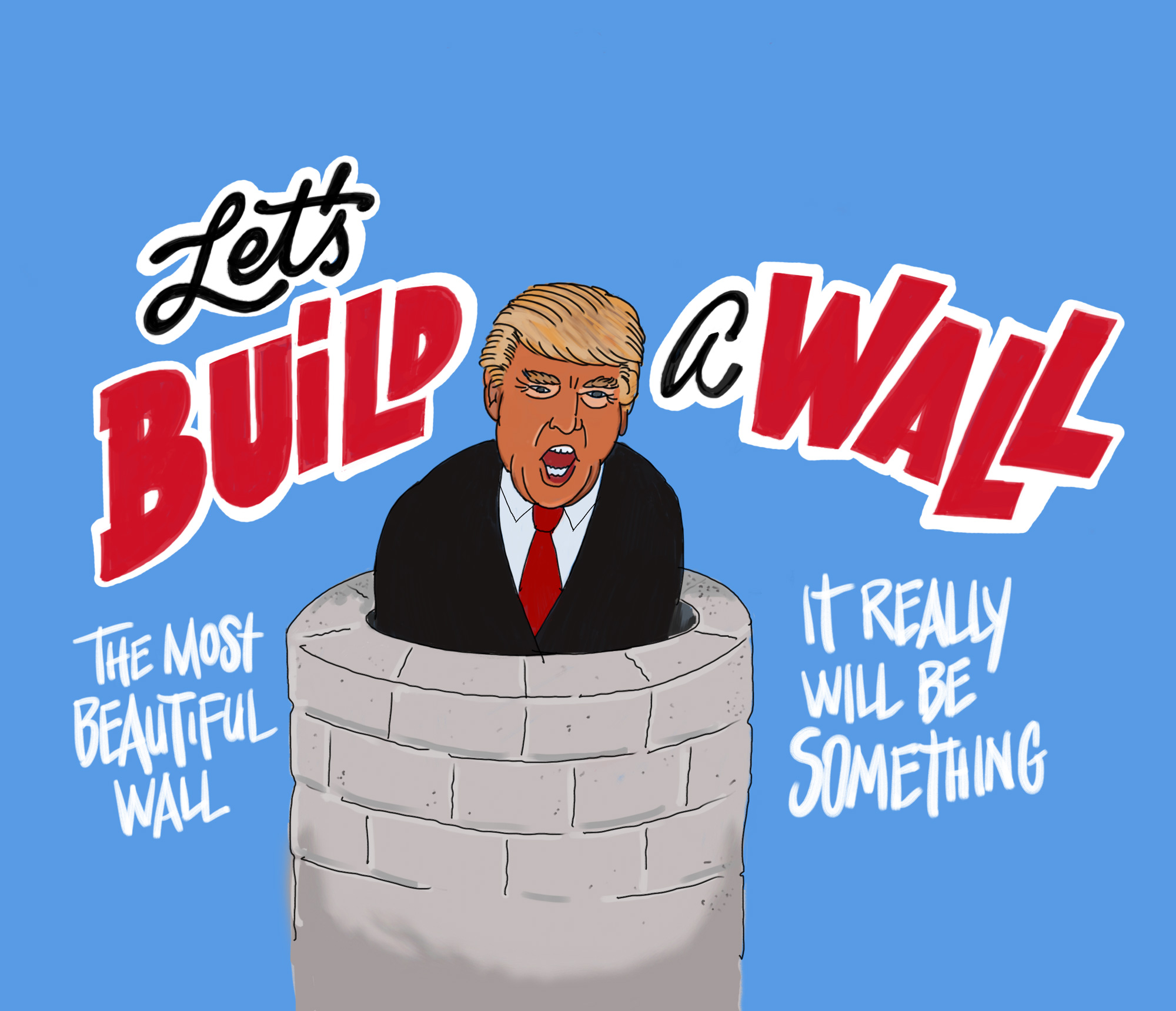 donald trump lets build a wall