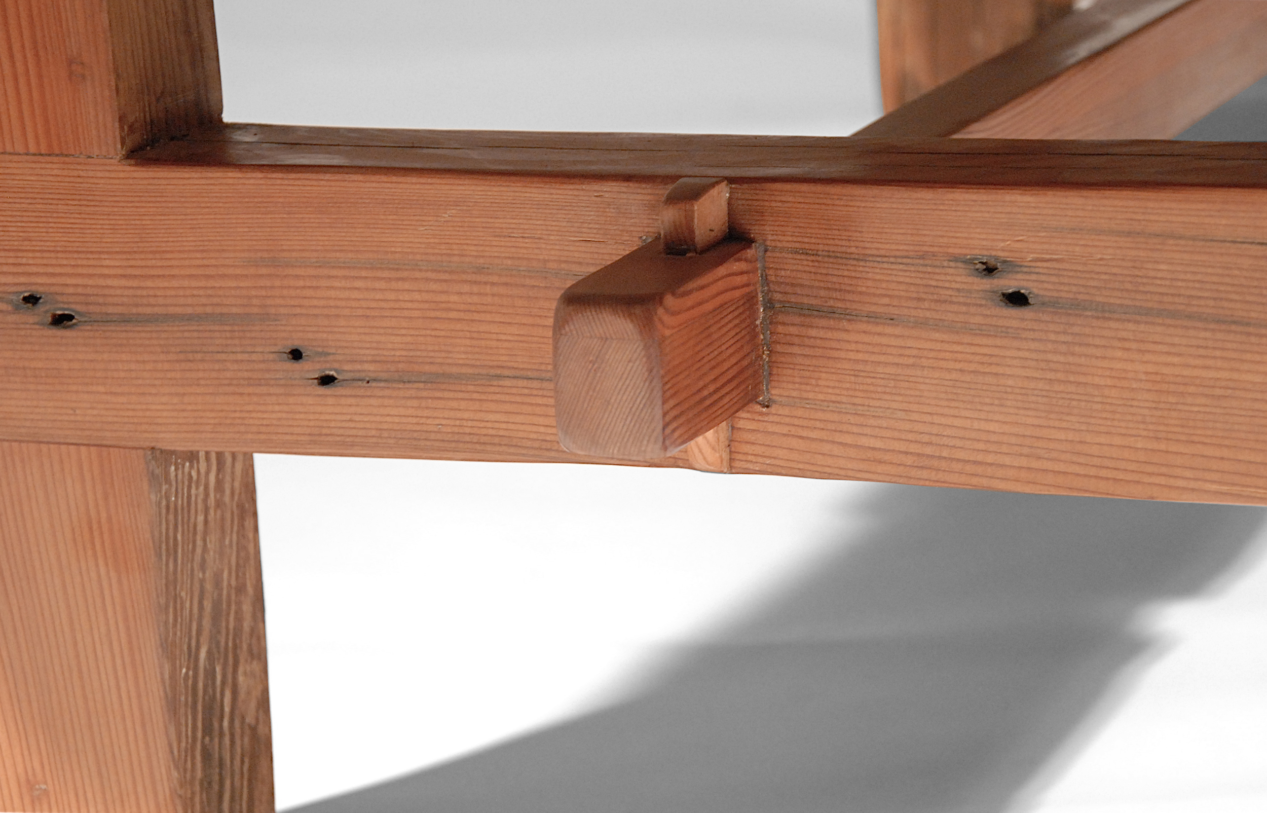Through tenon wedge detail