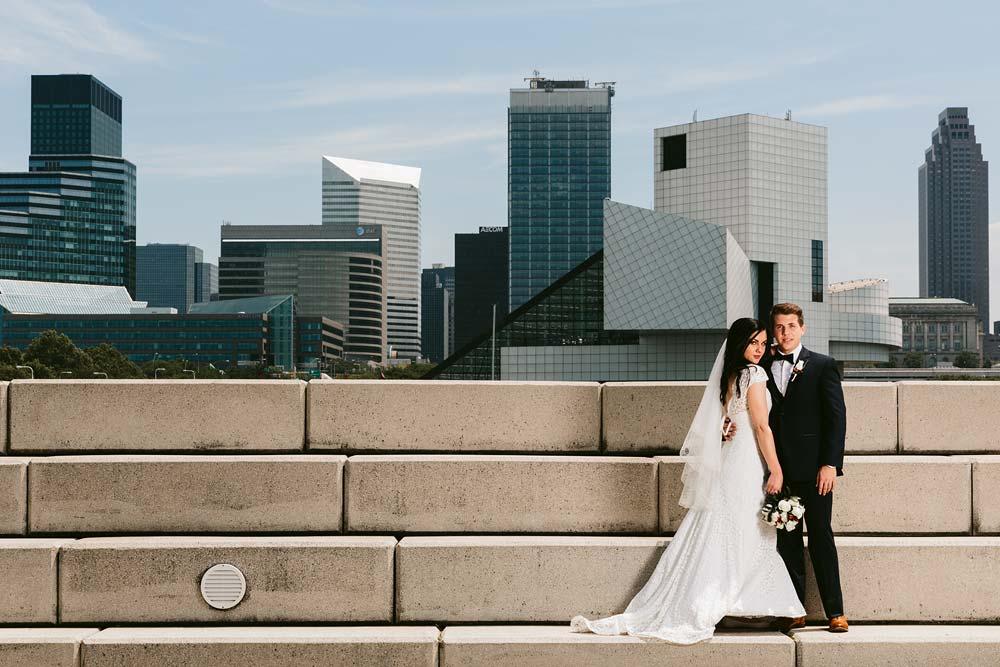 Modern Wedding PhotographerDowntown Cleveland, Ohio - DARIA + ALCUIN