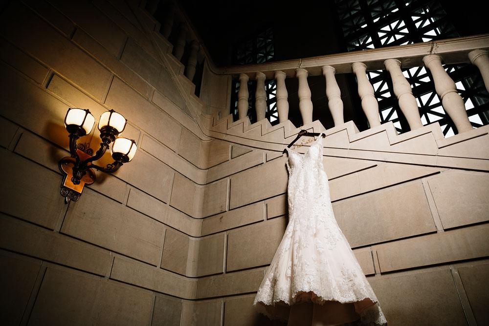wedding bridal dress at Stambaugh Auditorium