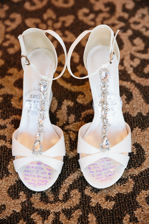 wedding shoes at royal park hotel