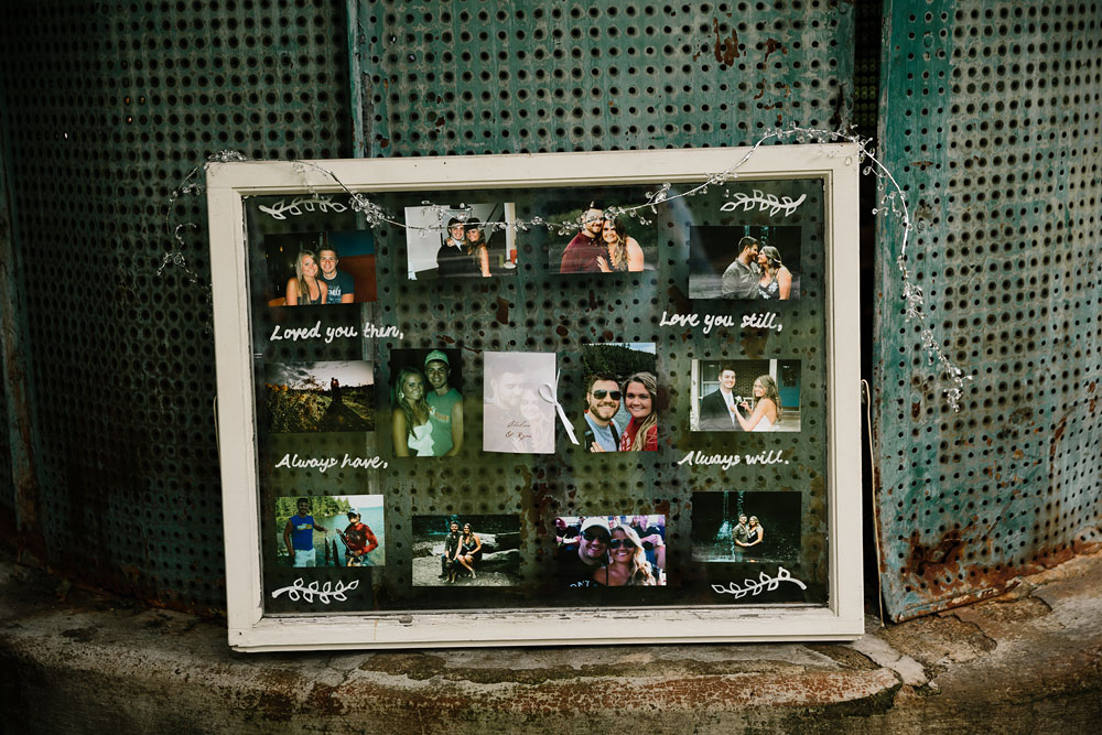 photo display for wedding at hines hill conference center
