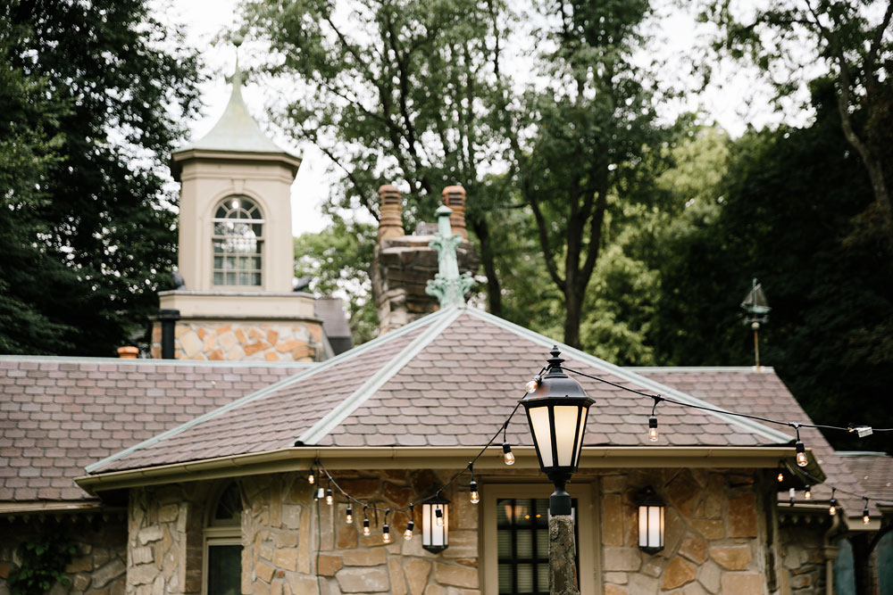 lighting decorations and top of building of hines hill conference center