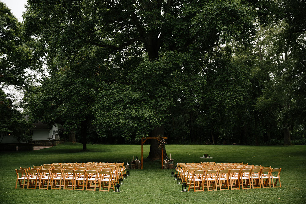 chairs set up for ceremony at hones hill conference center