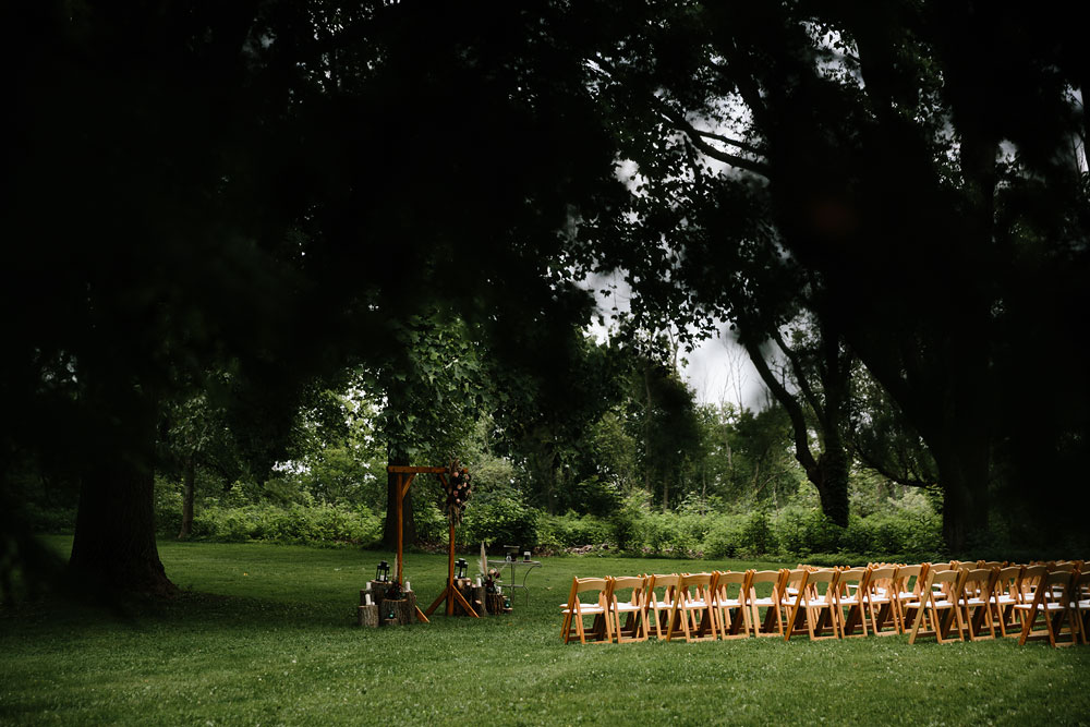 chairs set up for wedding ceremony at hines hill conference center
