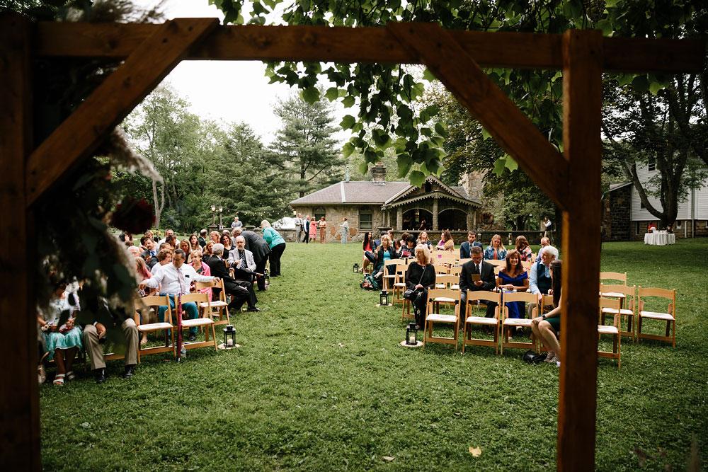 chair setup for wedding day