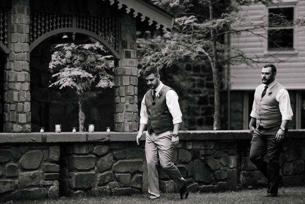 groom walks up for wedding