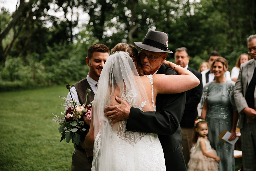 father gives daughter away at her wedding