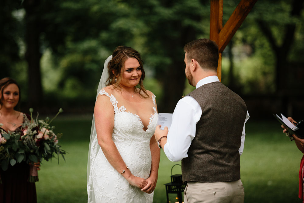 groom says his vows to bride