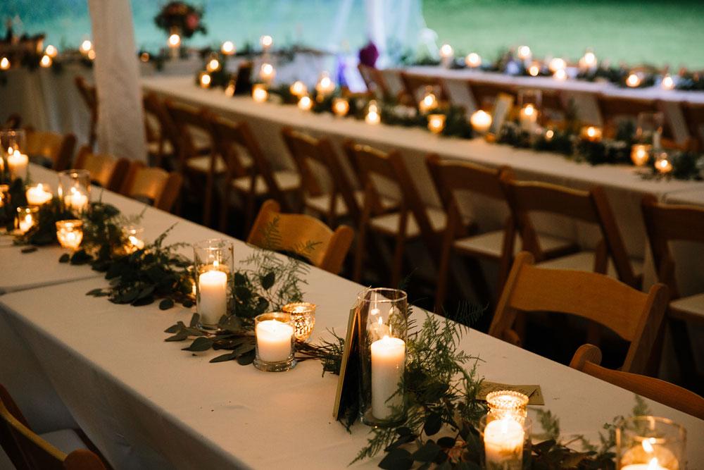 green wedding decorations