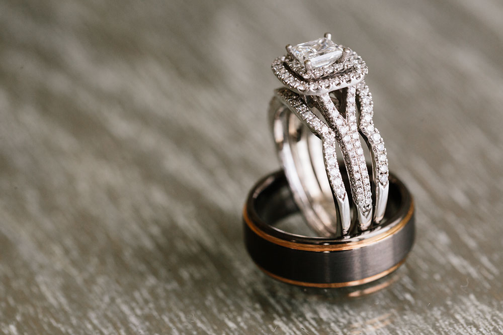 wedding rings set photography