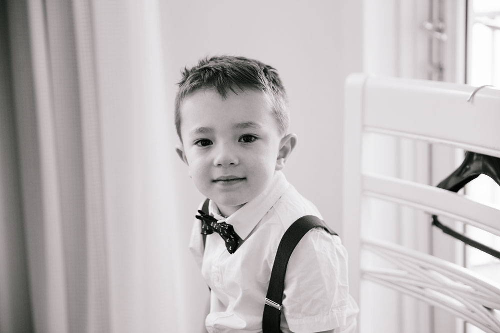 ring bearer looking at camera