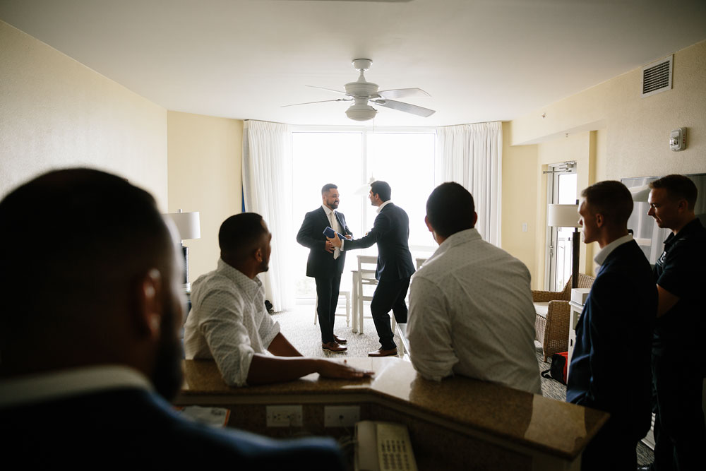 groomsmen and groom before wedding