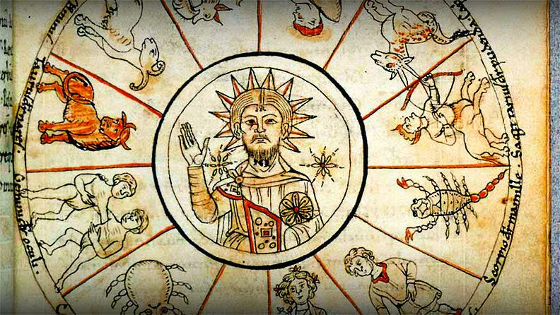 9th Century, Zodiac Christ | Christ as associated with the Sun God, The Father.