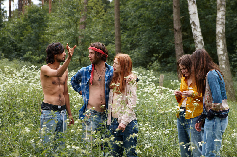 """Neo-hippy's today, who gather at festivals of all sorts. These groups continue in the tradition of Ken Kesey's """"Merry Pranksters,"""" as written about by Tom Wolfe."""