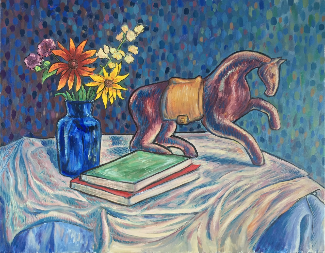 Still Life With Horse (Still Life in Synthetism)