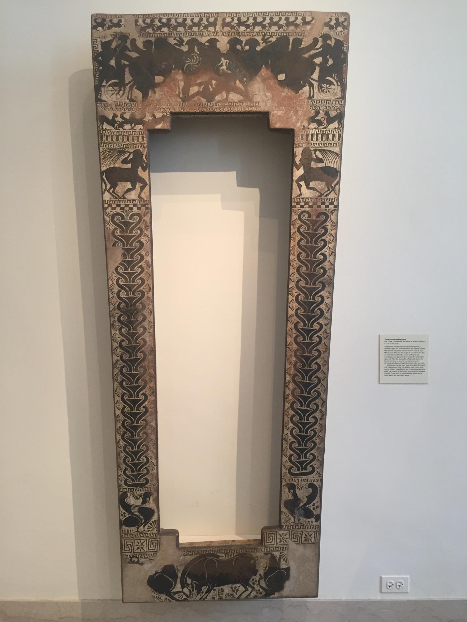 Terracotta sarcophagus rim
