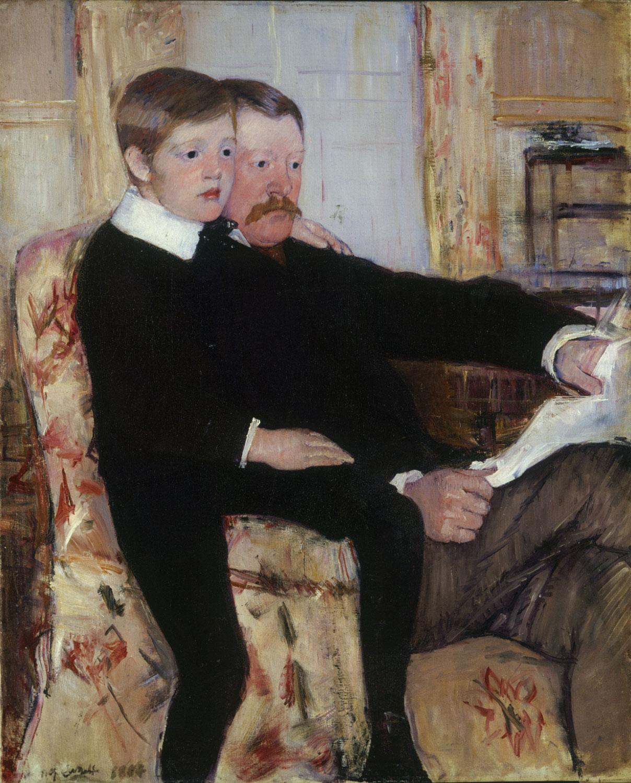"""Portrait of Alexander J. Cassatt and His Son, Robert Kelso Cassatt,"" Mary Cassatt, 1884. Picture via Wikipedia.com"