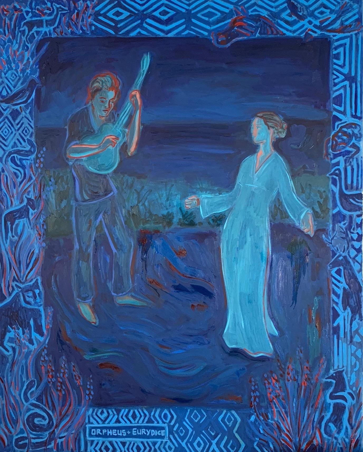 """Orpheus Sings for Eurydice,"" Oil paint on linen, 60 x 48."