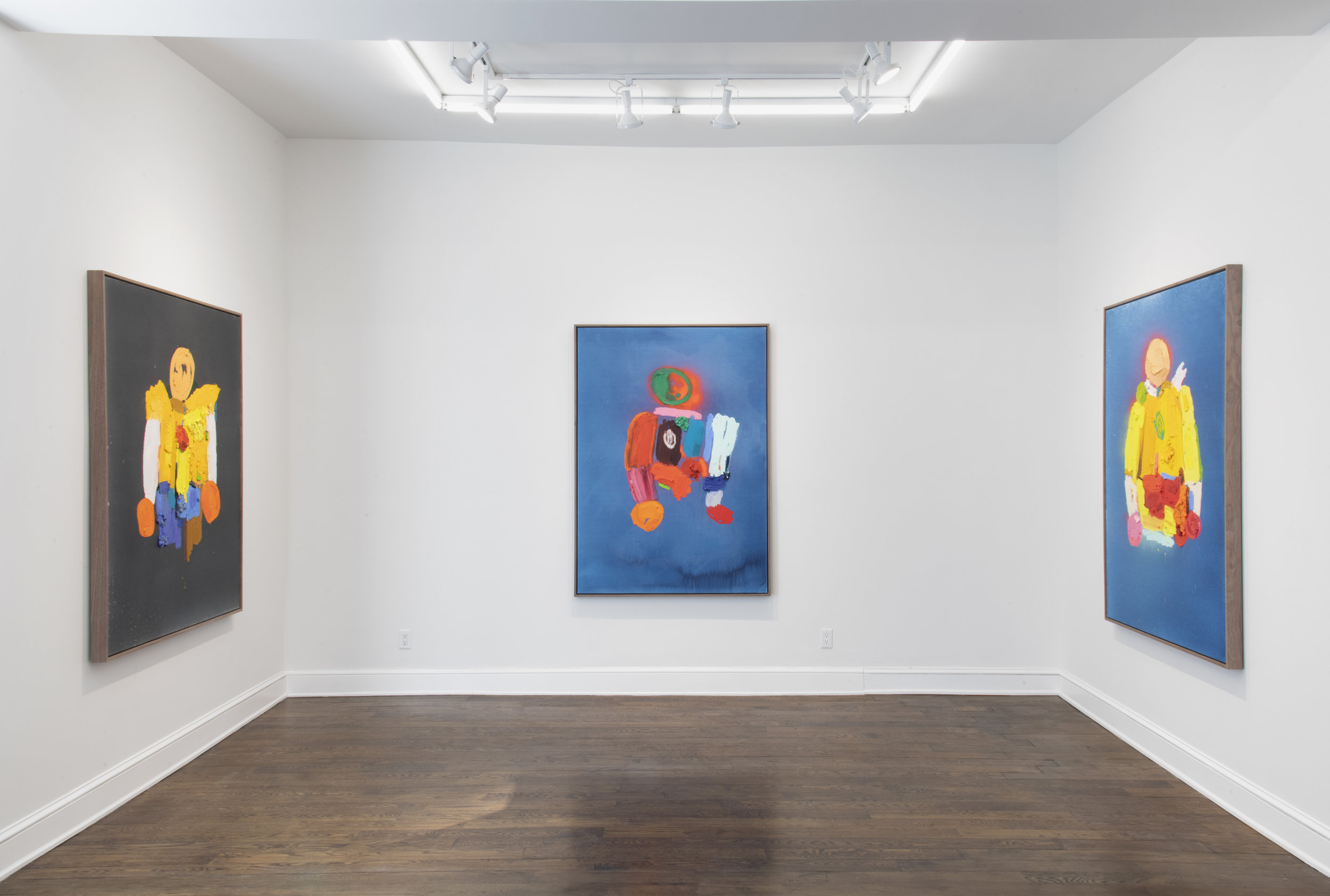 Installation of Horowitz paintings at the Johannes Vogt Gallery. Image courtesy of the gallery.
