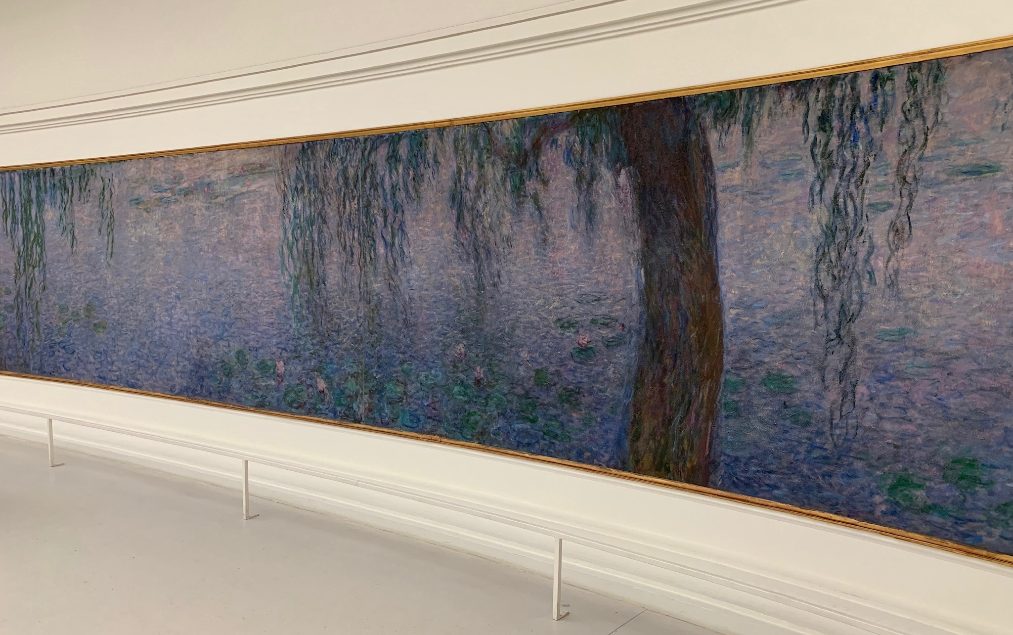 "Installation of Claude Monet's ""Water Lillies"" at Museé l'Orangerie"