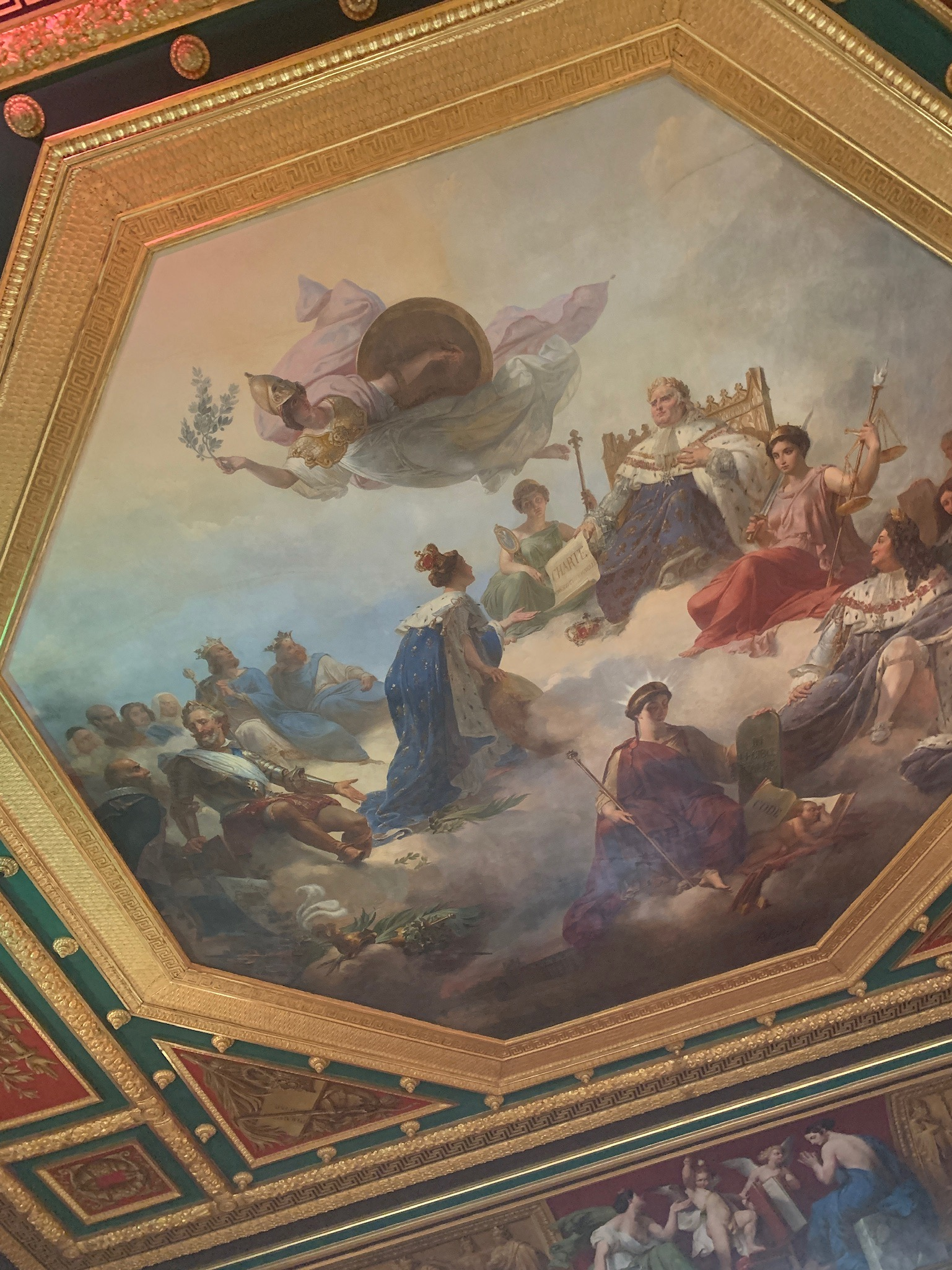 Decadent ceiling in the Louvre. (Click to see full image)