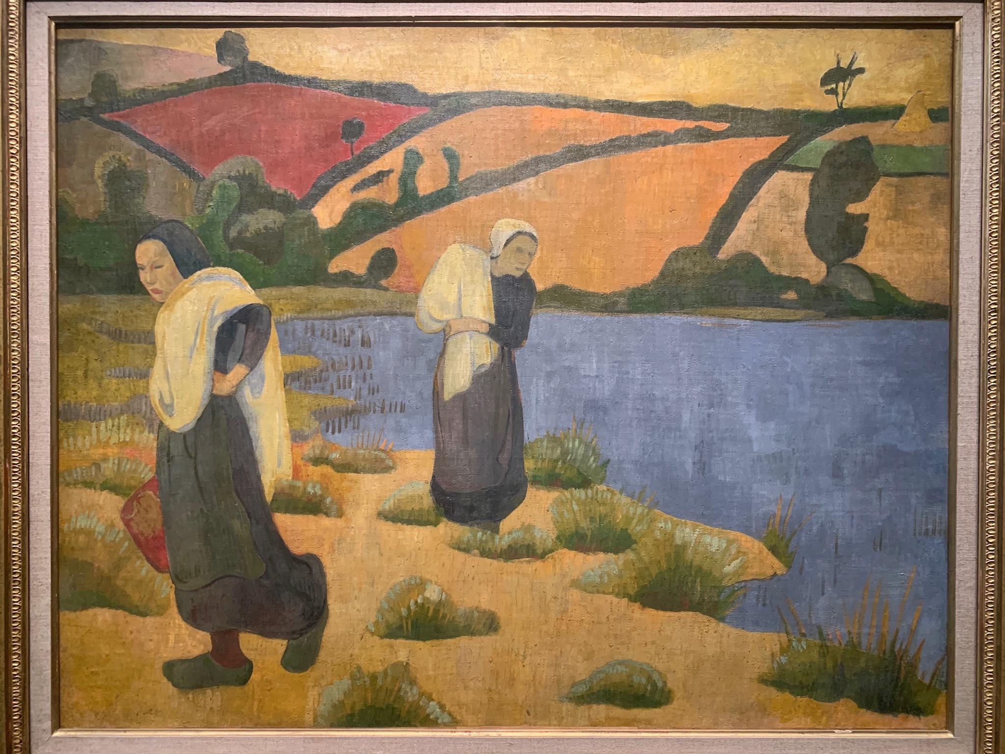 """Paul Serusier, """"Les Laveuses a la Laita."""" 1892. Musée d'Orsay"""