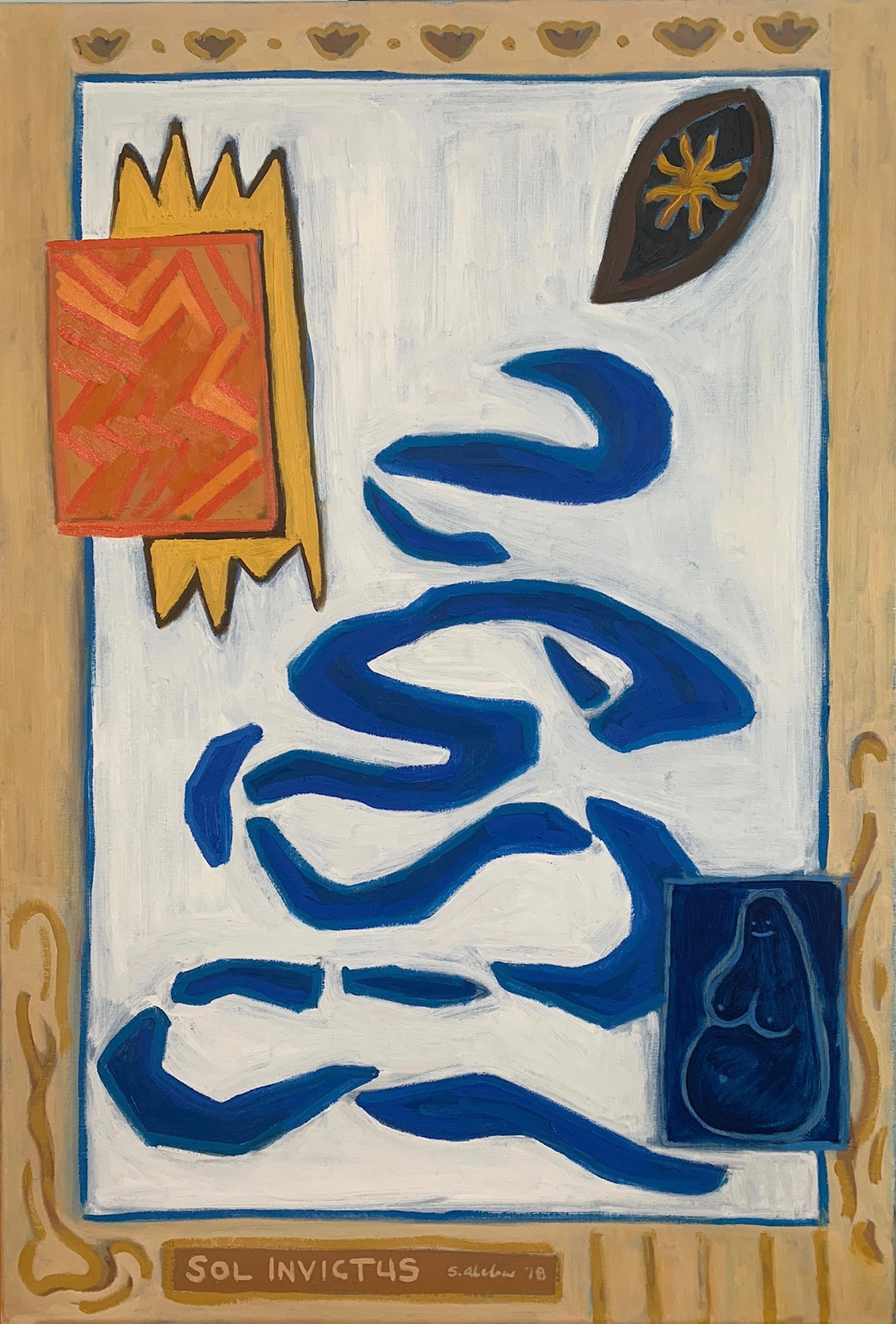 """""""Sol Invictus,"""" Oil paint on linen, 36 x 24 inches."""