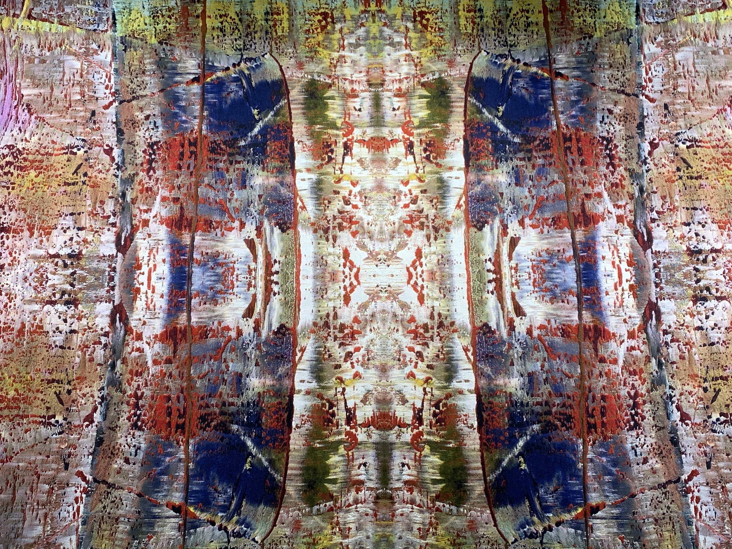 Detail of Richter's tapestry. Photographed as installed at The Shed.