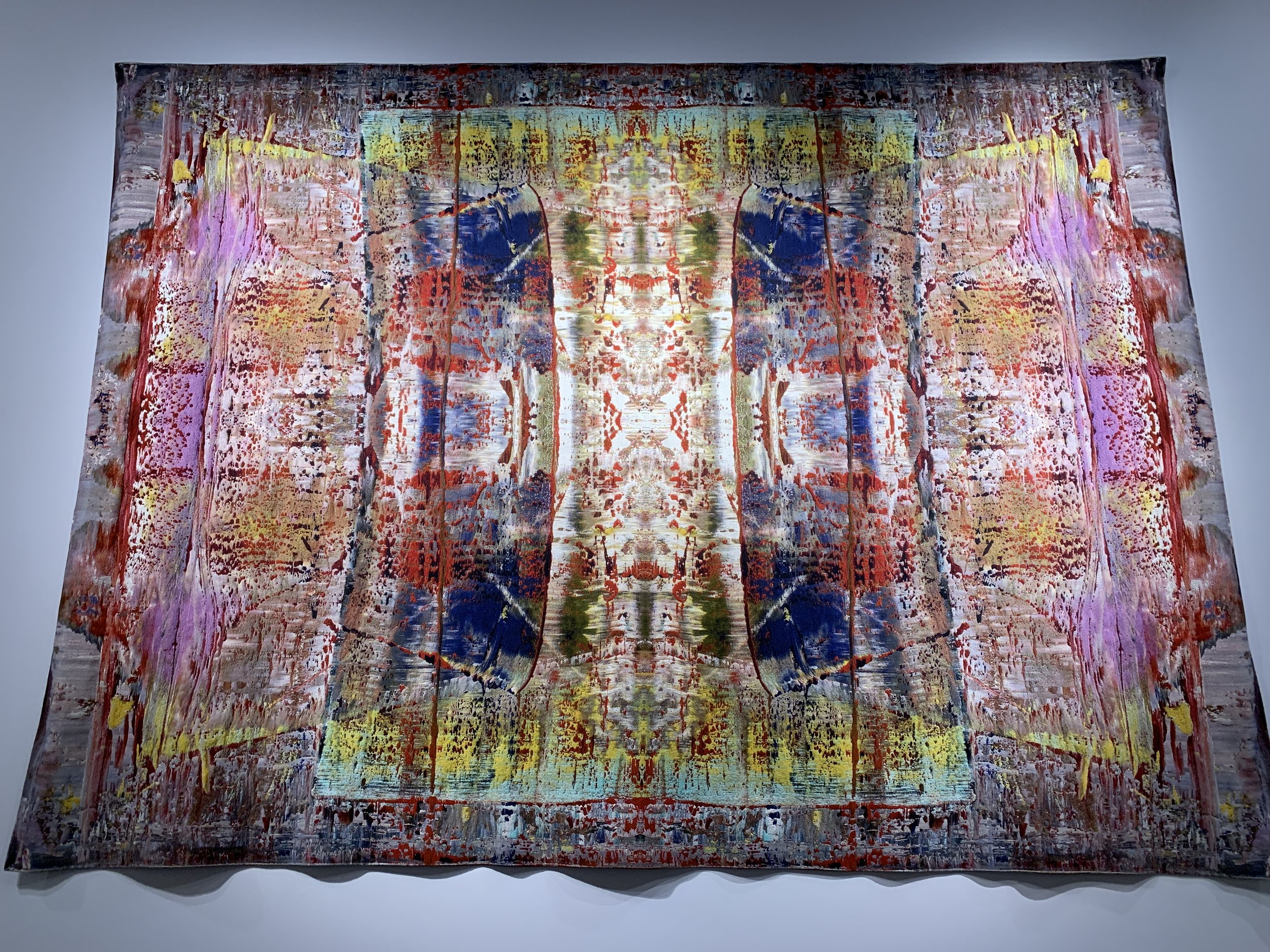 Richter tapestry, featuring quaternary pattern, photographed as installed at The Shed.