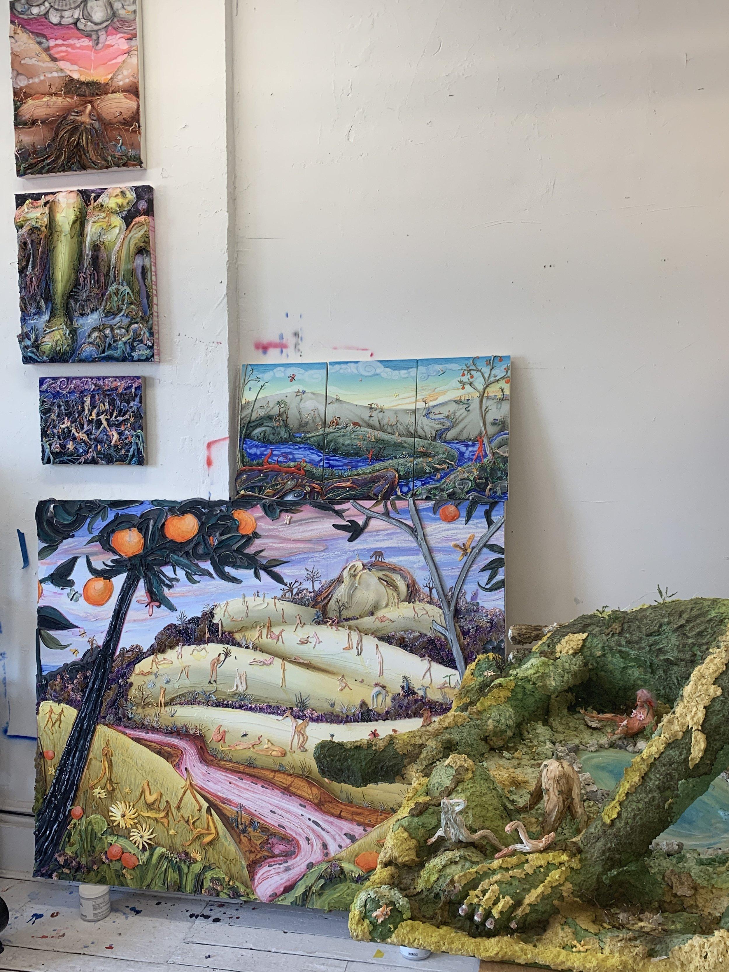 Inside the studio of Kate Klingbeil.