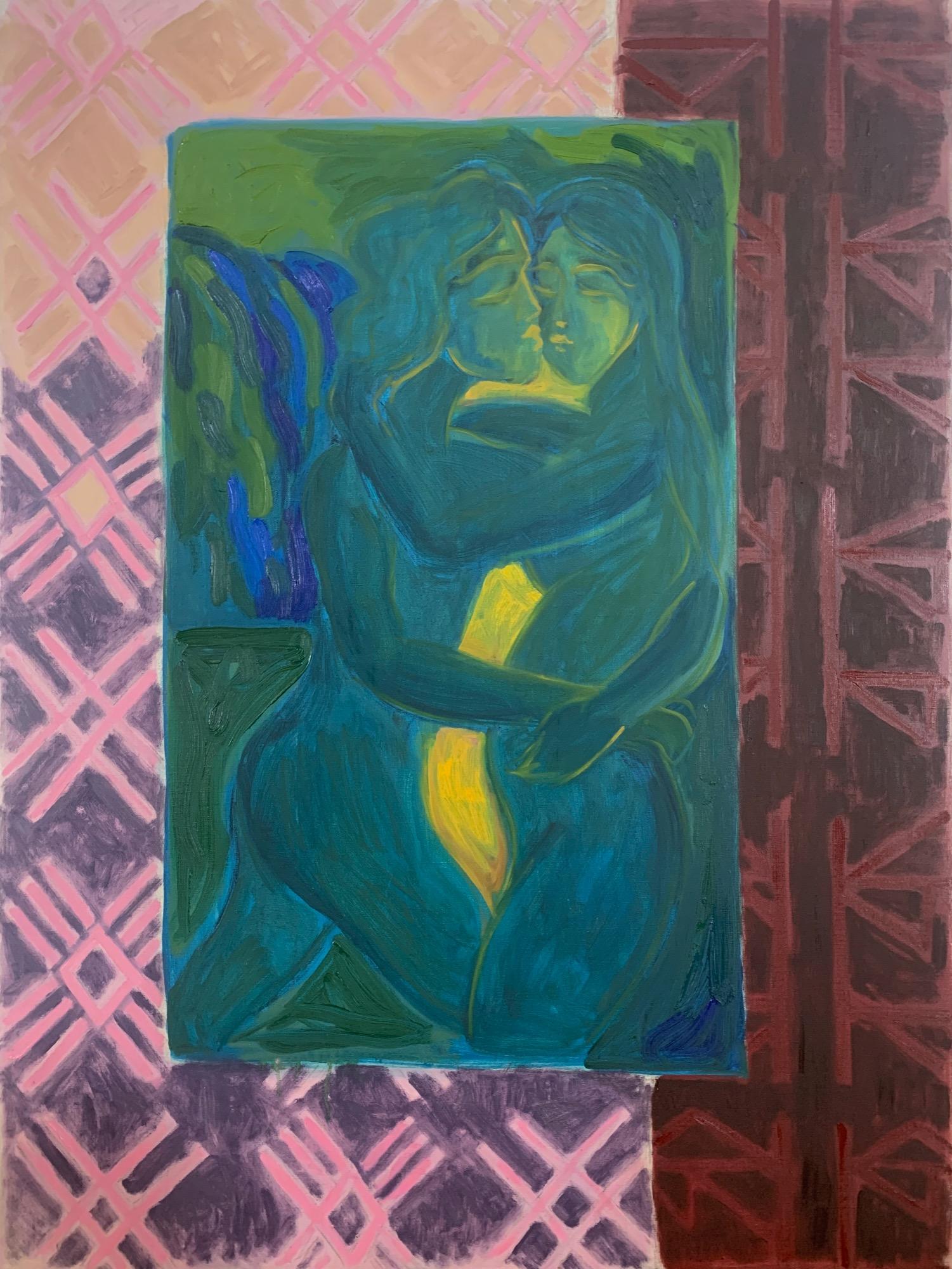 Nora-Persephone, II (Orpheus Kisses Nora on the Cheek)
