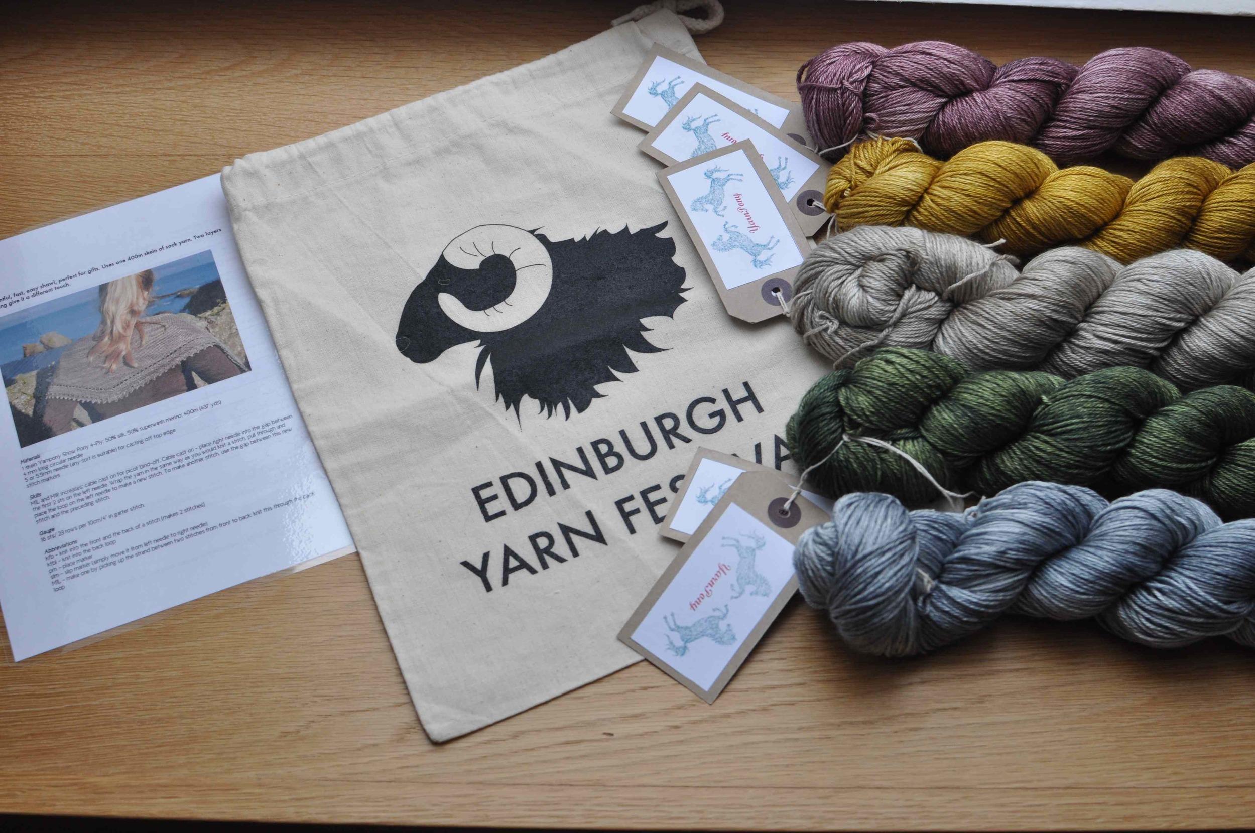 Pattern, bag and YARN! One skein per winner.