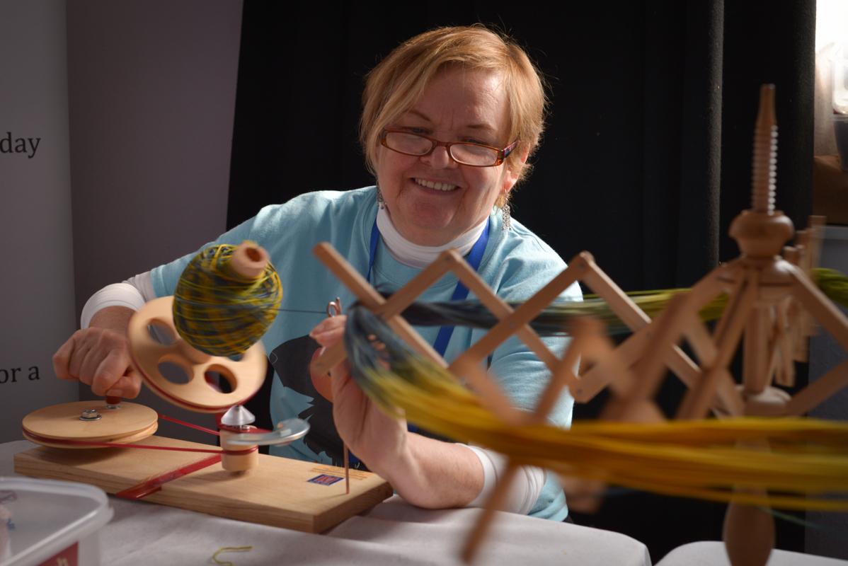 Chris McColeman - yarn winder in-chief since 2013 Image: Katie Blair Matthews