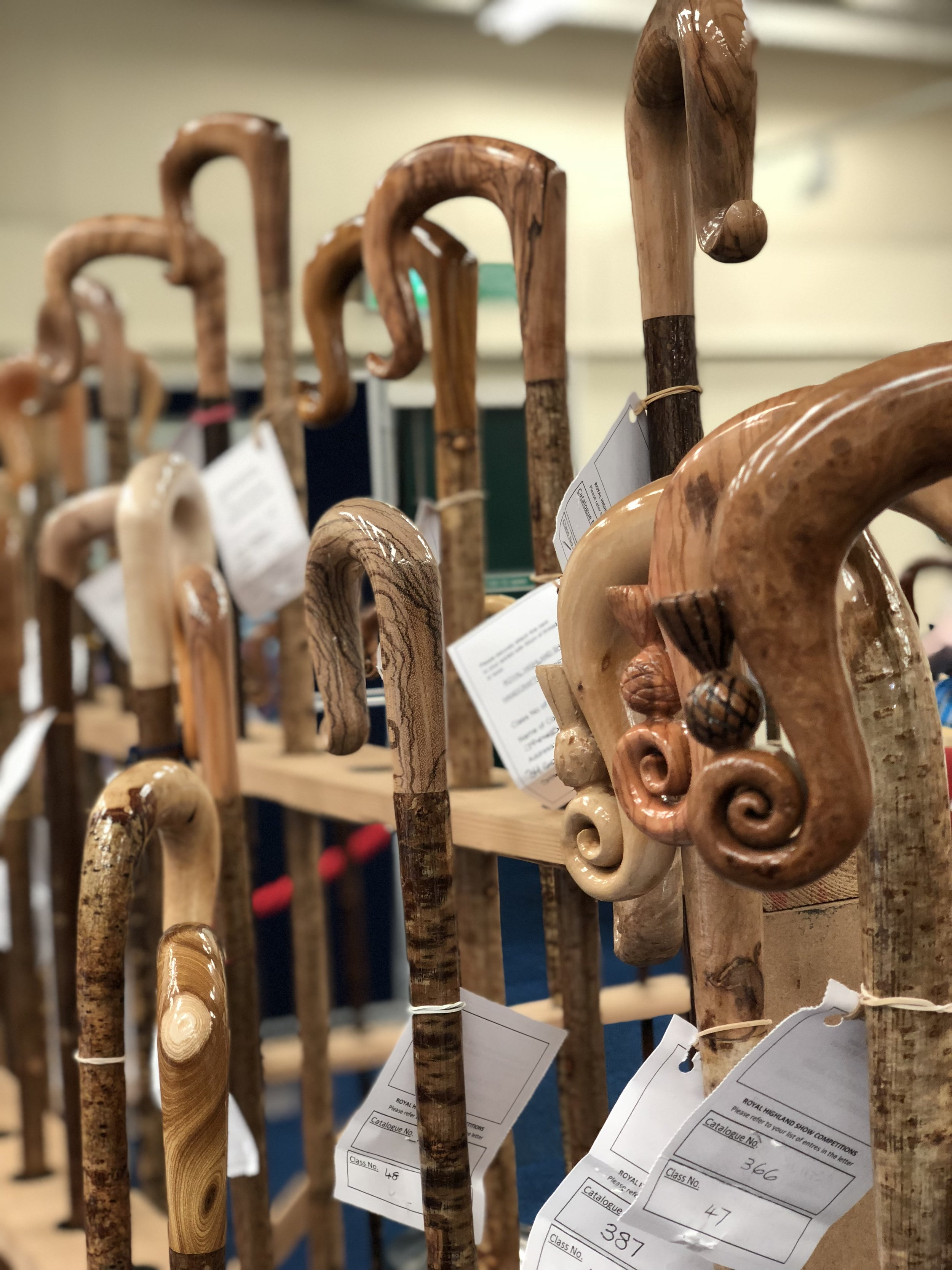 Shepherds crook carving competition entries