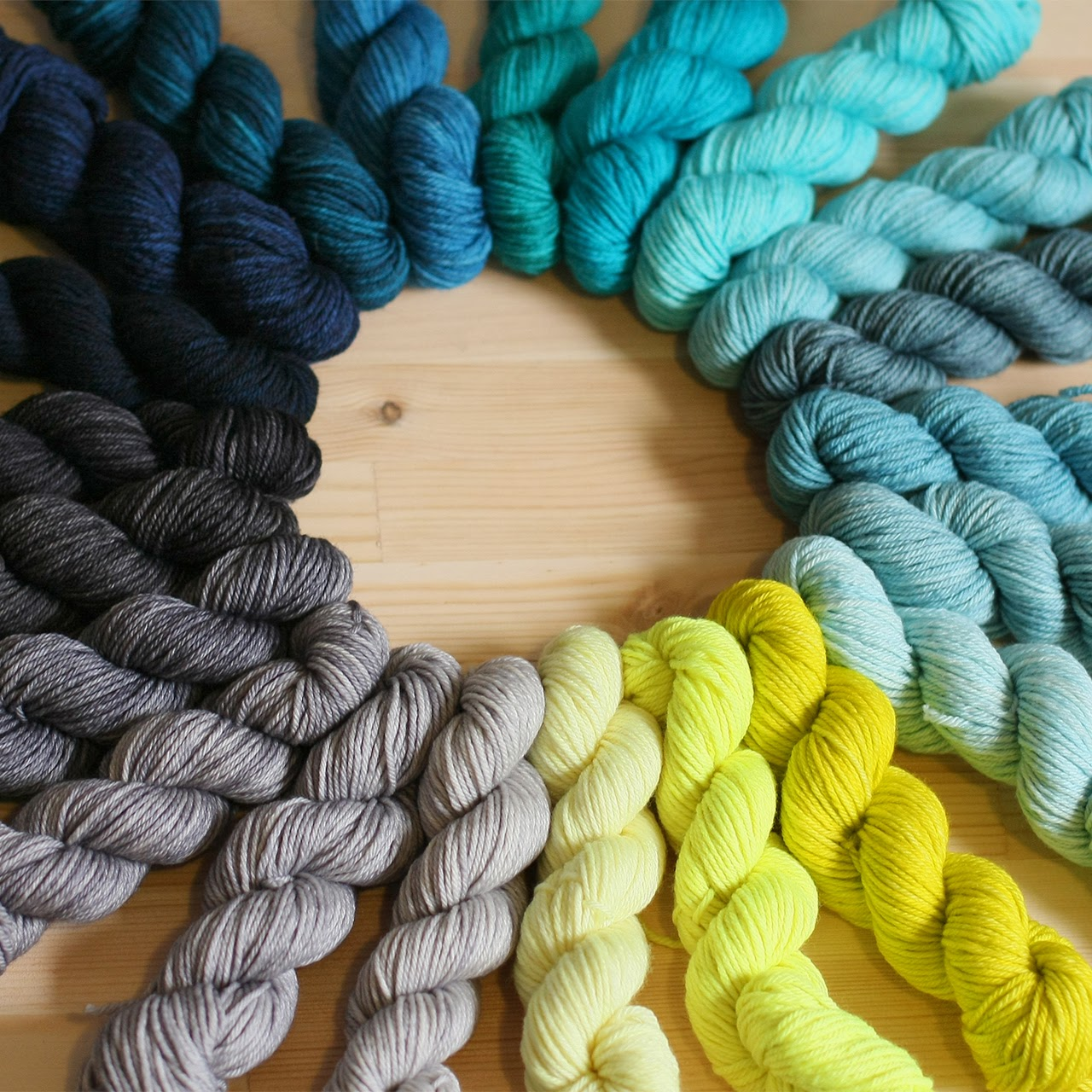 RAINBOW HEIRLOOM  Hand dyed in Edinburgh, Rainbow Heirloom creates blistering brights, deep jewel tones and delicately soft shades. Gorgeous yarns, blanket kits, and bundles of mini skeins in a rainbow of brilliantly vivid colours will be coming to EYF.