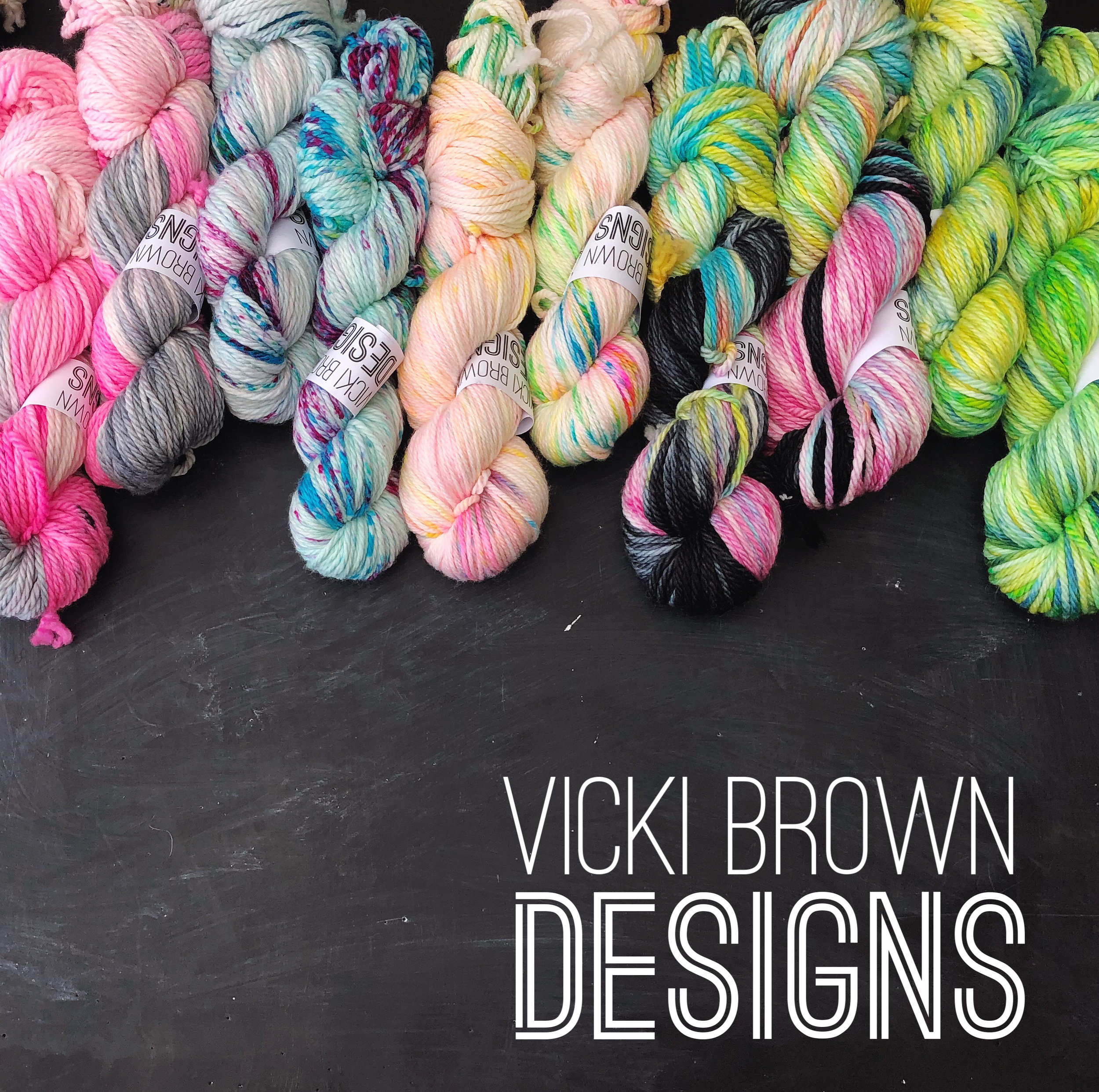 VICKI BROWN DESIGNS  Crochet designer and yarn dyer, combining these two passions to create beautiful, truly wearable crochet pieces. Mostly obsessed with crochet socks!